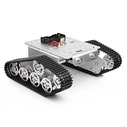 townsister Intelligente Auto Plattform verfolgte Roboter Metallaluminiumlegierung Behälter Fahrgestelle mit leistungsfähigem Doppel DC 9V Motor für Raspberry Pi DIY -