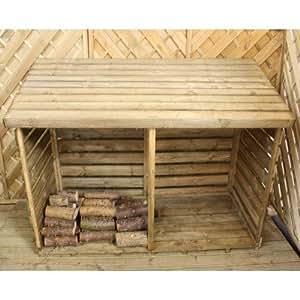 Doppelte 6ft w x 2,5ft D aus Holz Log Aufbewahrung Schuppen