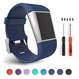 Für Fitbit Surge, Ersatz Bands für Fitbit Surge Activity Tracker (Blue S)