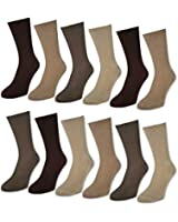 12 Paar Damen & Herren Socken ohne Gummidruck 100% Baumwolle