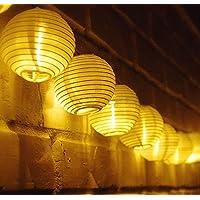 Qomolo Linterna de Luces de Linterna Navideña con 30 Luces LED, Luces de Cadena a Batería Para Patio, Terraza con Jardín, Patio, Café, Fiesta