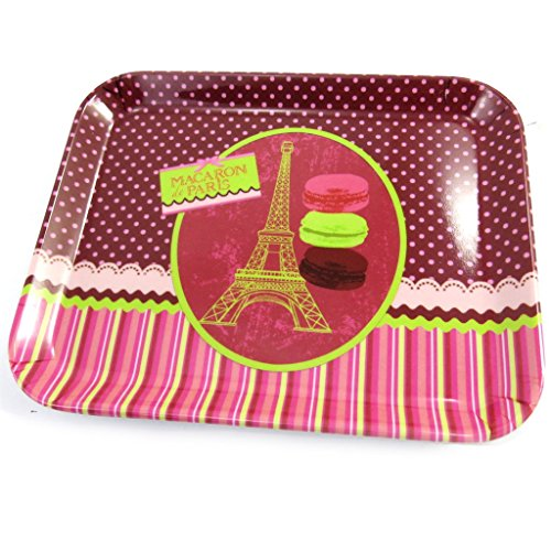 Bandeja pequeña 'Macarons De Paris'verde rosa (15x20 cm).