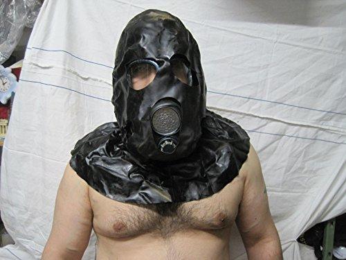 Gasmaske Henker M10 Haube Filter Halloween Black Style Fetisch Gummi ABC (Gasmaske Mit Haube)