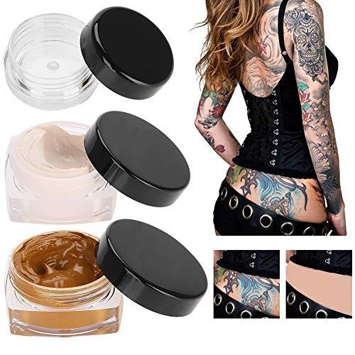 Tattoo Concealer, Upgrade Professionelle wasserdichte Haut Camouflage Creme Scar Versteckt Tattoo Vertuschen Make-up für Vitiligo Spots Muttermale (Camouflage-creme)