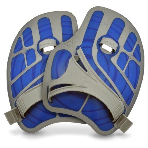 Aqua Sphere Ergo Flex Hand-Paddel / Aquajogging-Handschuhe, 1 Paar (Regulär) (Blau)