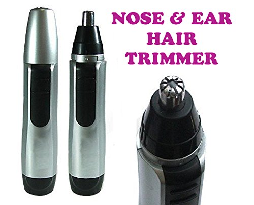 Gadget Hero's Nose, Ear, Facial Hair Trimmer. Battery Operated. Silver