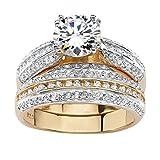 Palm Beach Jewelry - Set anillos boda para novia -...