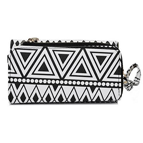Kroo Pochette/Tribal Urban Style Téléphone Coque pour Samsung Galaxy S4 Noir/blanc Noir/blanc