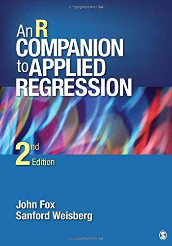 An R Companion to Applied Regression por John Fox