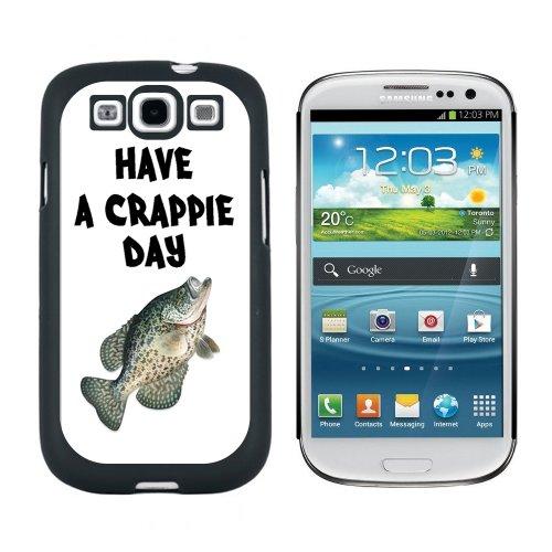 Haben eine Crappie Tag–Fisch Angeln Schlechte–Snap auf Hart Schutzhülle für Samsung Galaxy S3–Schwarz (Crappie Fische Schwarz)