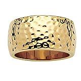 Toscana - Ring - Vergoldet 14 Karat (585) - Gehämmert - 52 (16.6)