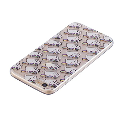 Cover iPhone 6 / iPhone 6S , YIGA pizza Cristallo Trasparente Silicone Morbido Case Molle TPU Shell Caso Protezione Custodia per Apple iPhone 6 / iPhone 6S (4.7) WL1