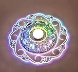 Kristall Deckenleuchte,Moderne LED Kristall Deckenleuchte,Kristall Deckenlampe Geeignet für den Einbau in Fluren, Vorraum, Küche, Bad, Schlafzimmer (Bunt Color)