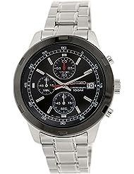 Seiko–Sks427p1–Armbanduhr–Quarz Chronograph–Zifferblatt schwarz Armband Stahl Grau