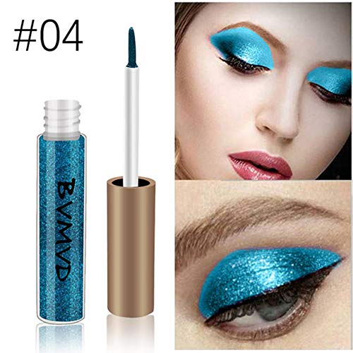 Liquid Eyeliner,gaddrt Metallic Smokey Lidschatten Wasserdicht Glitter Liquid Eyeliner (D)
