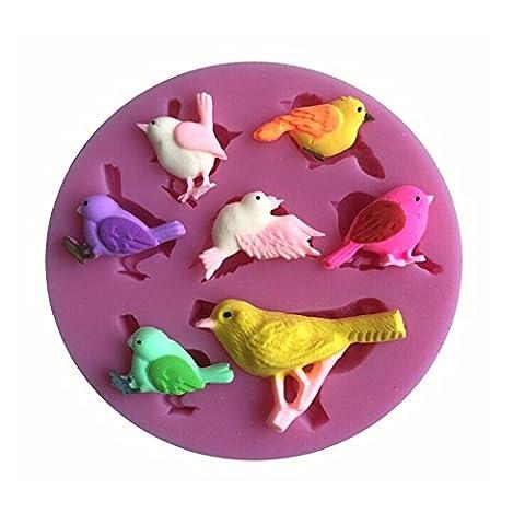 Karen Baking Vogel-Form 3D Silikon Backform für Kuchen-Fondant Dekorieren