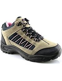 Mujer sendero de Caminata y senderismo Cordones Senderista Botines Zapatos Talla 3-8
