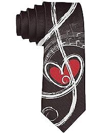 Love Music Note Tie - Cravate 'Valentine' pour homme