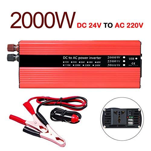 VIGORFLYRUN PARTS LTD 2000W Inversor de Corriente Portatil DC 24V to AC 220V...