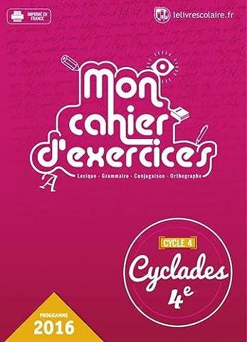 Cyclades 4e : Mon cahier d'exercices