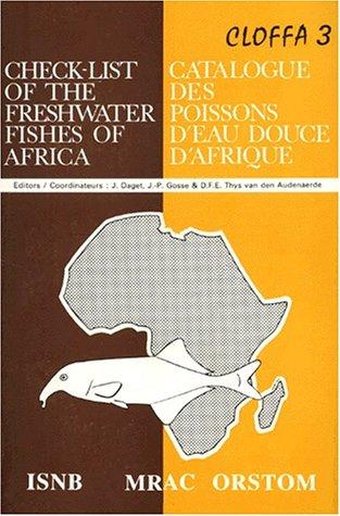 Catalogue des poissons d'eau douce d'Afrique, tome 3 par Collectif