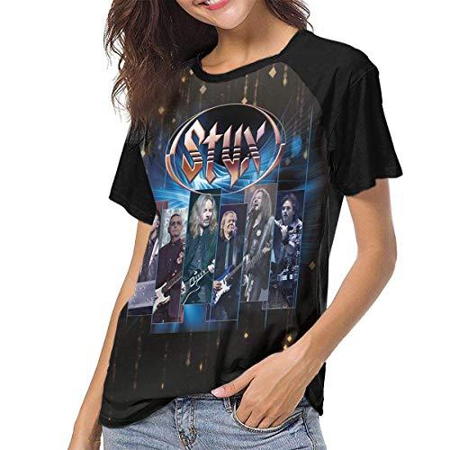 hdghgfjfghjd T-Shirts für Frauen,Styx Women Short Sleeve Baseball T Shirts Casual Loose Blouse Tops Personalise Daily wear Tee -