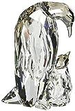 Swarovski 5043728 Dekoartikel Pinguin Mutter mit Baby, 5,6 x 2,5 x 3,8 cm