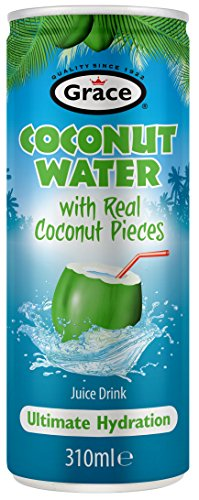 Grace Coconut Water Kokosnuss Wasser (with real coconut pieces), 310 ml can (Grace Coconut)