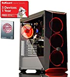 ADMI Intel GAMING PC - Intel Core I5 7400 3.5Ghz Quad Core CPU, GTX 1050 Ti 4GB Graphics Card, 8GB 2400MHz DDR4 RAM, 240GB Solid State Drive, Coolermaster Masterbox 5.1 Red Gaming PC Case
