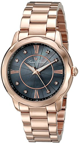 Lucien Piccard Womens Analogue Quartz Watch with Stainless Steel Strap LP-40000-RG-11MOP