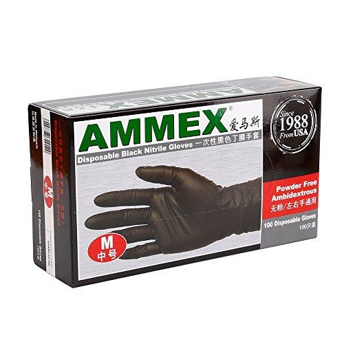 autorise-ammex-noir-jetable-nitrile-latex-gant-sans-poudre-taille-m-tc108-2