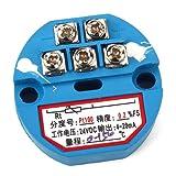 WEONE RTD PT100 Sensores de temperatura del transmisor de 4-20 mA de salida de plástico 0 a 150 grados DC 24V Azul