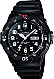 Casio MRW-200H-1BVEF Men's Quartz Watch with Black Dial Analogue Display and Black Resin Strap