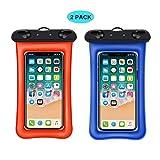 HHRONG [Floating] Wasserdichte Handytasche, RANVOO Dry Bag Tasche für iPhone X 8 8 Plus 7 7 Plus 6 6 s 6 Plus, Samsung Galaxy S8 Plus, S8, Edge, Hinweis 8,7, LG G5, G6, mit Lanyard, bis zu 6,3