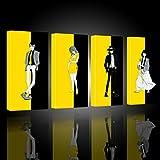Serie Lupin III Stampa su Tela Canvas Giallo e Nero Quadro