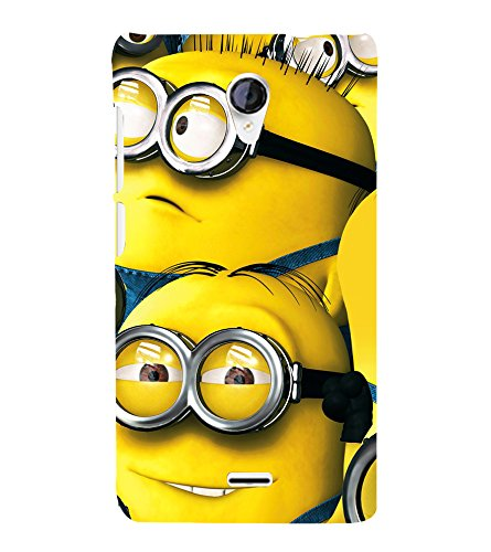 printtech Minions Back Case Cover for Micromax Canvas Unite 2 A106 /Micromax A106 Unite 2