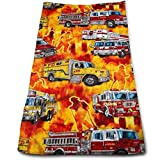 ERCGY Firetrucks Orange Towels Multi-Purpose Microfiber Soft Fast Drying Travel Gym Home Hotel Office Washcloths