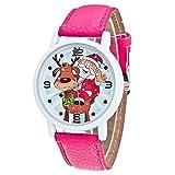 Lucky mall Weihnachten ältere Muster Uhren, Analoge Quarzuhr aus Leder Vogue Uhr