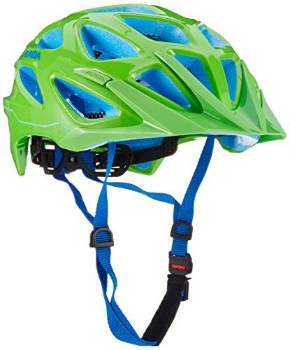 ALPINA Mythos 3.0 Fahrradhelm, Neon Green/Blue, 52-57 cm