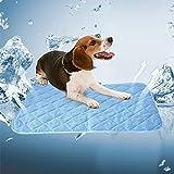Nibesser Kühlmatte für Hunde Tiere Kühlkissen zur Abkühlung in der Sommerhitze Hundedecke Selbst Kühl Kühldecke Perfekt für Fußboden Sofa Bett Auto