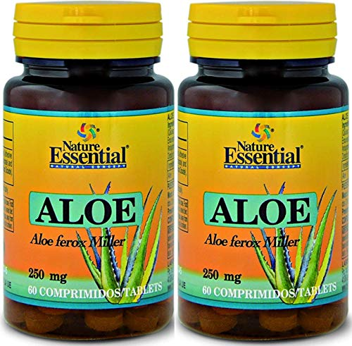 Nature Essential Aloe Vera 250 miligram 60 tabletas. Pack de 2