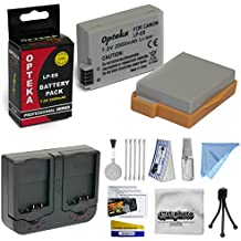 2 Extended Life Replacement Battery Packs For the Canon LP-E8 LPE8 2000MAH Each 4000MAH in Total For The Canon Rebel T2i T3i T4I T5i 700D 650D Kiss X5 Kiss X4 Kiss X6i kISS X7i EOS 550D 600D DSLR + 1 hour AC/DC Dual Battery Rapid Charger + Deluxe Lens Cleaning Kit + LCD Screen Protectors + Mini Tripod + 47stphoto Microfiber Cloth + $50 Photo Print Gift Card!