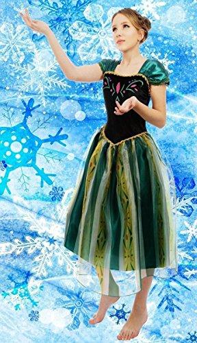 Erwachsene Damen Eiskönigin Anna Kostüm Cosplay Party Gewand Fancy Kleid Outfit (XXXL(UK SIZE (Erwachsene Kostüme Kleid)
