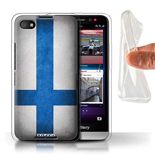 Stuff4 Gel TPU Hülle / Case für Blackberry Z30 / Finnland/Finnische Muster / Flagge Kollektion