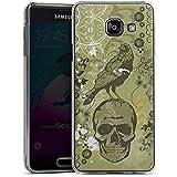 Samsung Galaxy A3 (2016) Housse Étui Protection Coque Corbeau Corbeau Tête de mort