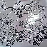 Toraway Estilo simple Gran Vinilo removible etiqueta de la pared mural de la etiqueta del arte - flores de la vid