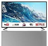 SHARP 4K Ultra HD Smart LED TV, 164 cm (65 Zoll), Harman/Kardon Soundsystem, 3 HDMI Anschlüsse, LC-65UI7252E, Schwarz,