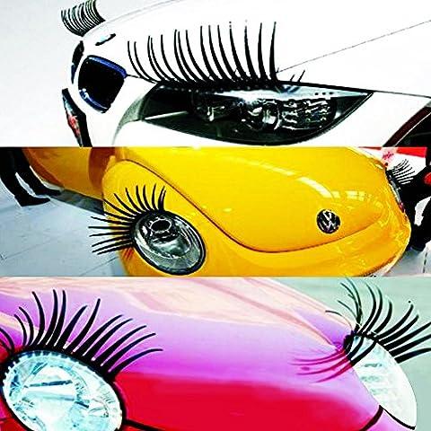 Y & B cils 3D autocollant pour voiture côté Miroir