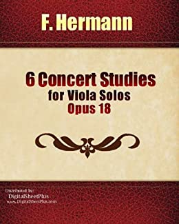 Hermann 6 Concert Studies Op.18 for Viola Solos sheet music