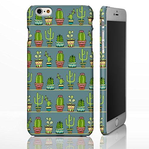 iCaseDesigner Étui de téléphone pour iPhone Motif hawaïen/floral/tropical/fête Luau/ exotique/cactus/hibiscus/flamant rose/Palm Spring, plastique, 19: Cactus on White, iPhone 5C - Slim Case 22: Cactus in Pots on Slate Grey